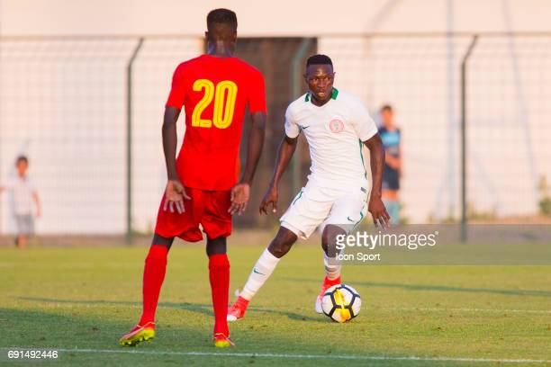 Sikiru Olatunbosun of Nigeria during the soccer friendly match between Nigeria and Togo on June 1 2017 in St LeulaForet France
