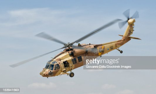 A Sikorsky UH-60 Black Hawk Yanshuf of the Israeli Air Force.