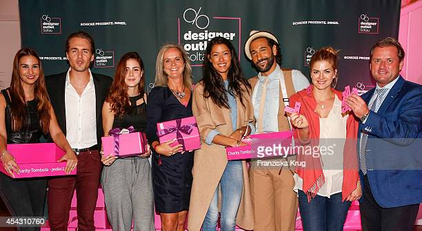 Sila Sahin Alexander Klaws Lena MeyerLandrut Sylvie Mutschler Rebecca Mir Massimo Sinato Nina Bott and Thomas Ratenauer attend the Late Night...
