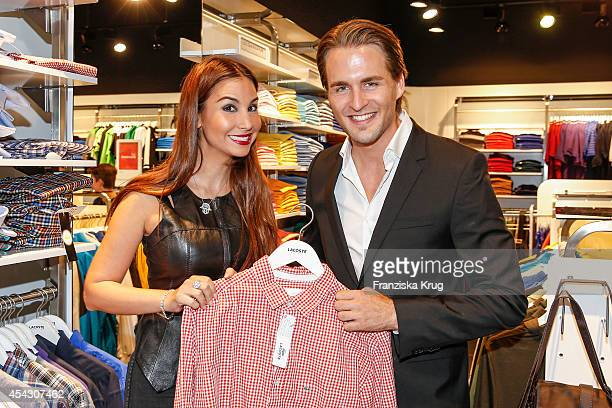 Sila Sahin and Alexander Klaws attend the Late Night Shopping Designer Outlet Soltau on August 28 2014 in Soltau Germany