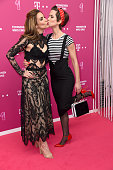 Sila Sahin and Isabell Horn attend the Telekom Entertain TV Night at Hotel Zoo on April 28 2016 in Berlin Germany
