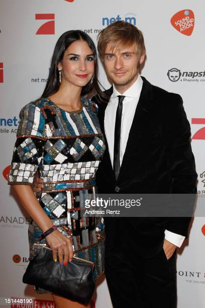 Sila Sahin and Joern Schloenvoigt attend the music meets media party on September 7 2012 in Berlin Germany