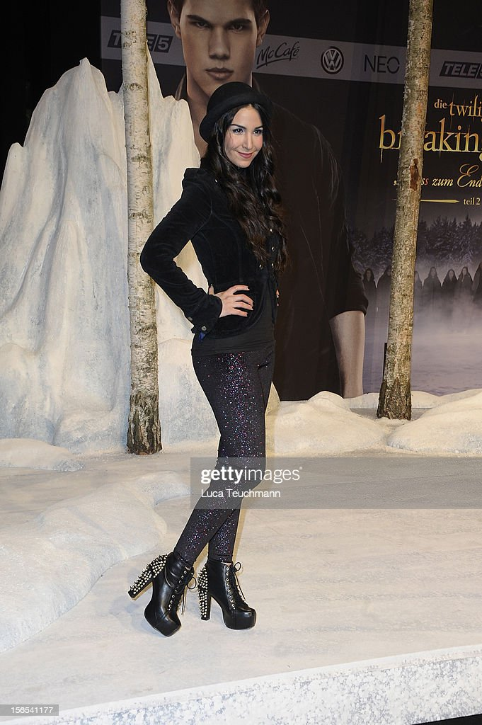 Sila Sahin attend the 'Twilight Saga: Breaking Dawn Part 2' Germany Premiere at CineStar on November 16, 2012 in Berlin, Germany.