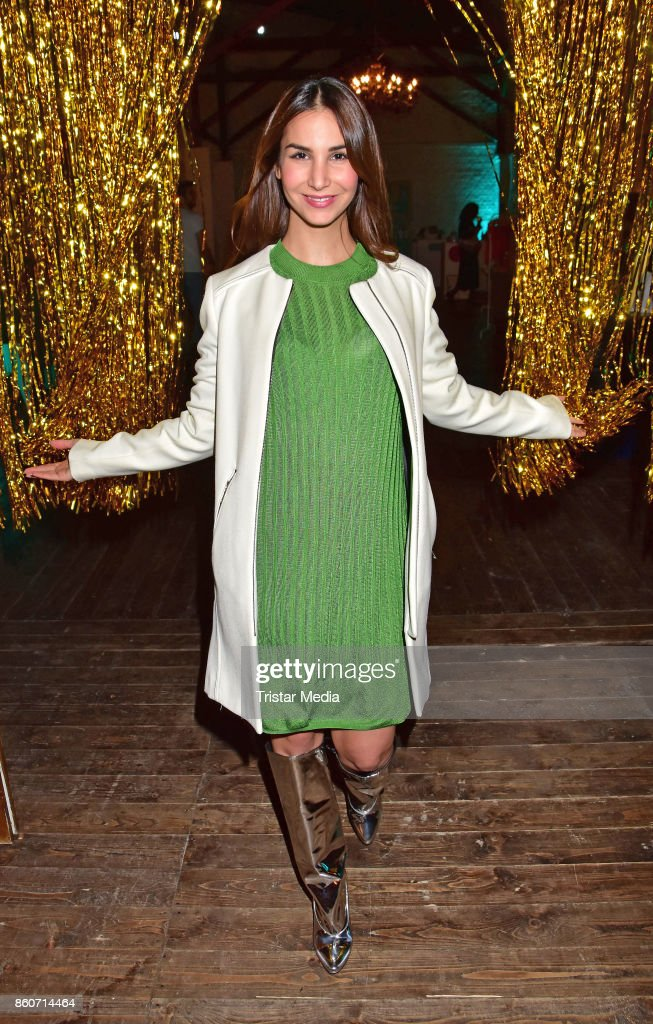 Sila Sahin attends the Amorelie Christmas Calender Launch Dinner on October 12, 2017 in Berlin, Germany.