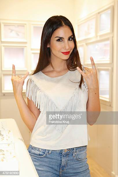 Sila Sahin attends the Pandora Flagship Concept Store Opening on July 02 2015 in Hamburg Germany