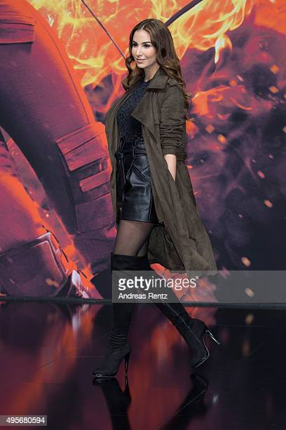 Sila Sahin attends the world premiere of the film 'The Hunger Games Mockingjay Part 2' at CineStar on November 4 2015 in Berlin Germany
