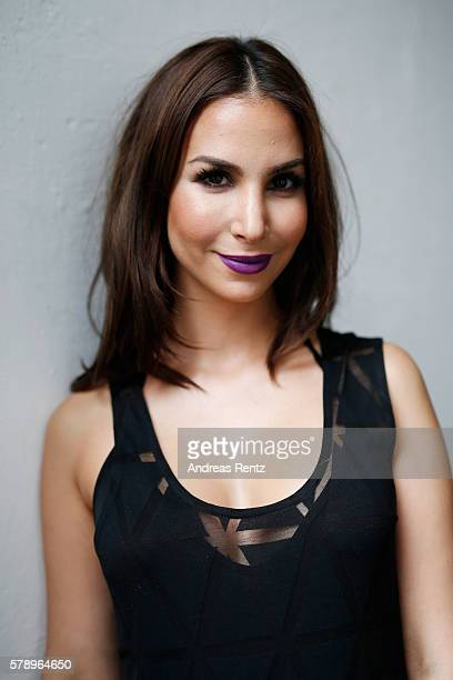 Sila Sahin is seen backstage ahead of the Breuninger show during Platform Fashion July 2016 at Areal Boehler on July 22 2016 in Duesseldorf Germany