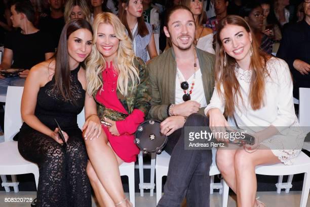 Sila Sahin Jennifer Knaeble Gil Ofarim and Ekaterina Leonova attend the Riani Fashion Show Spring/Summer 2018 at Umspannwerk Kreuzberg on July 4 2017...