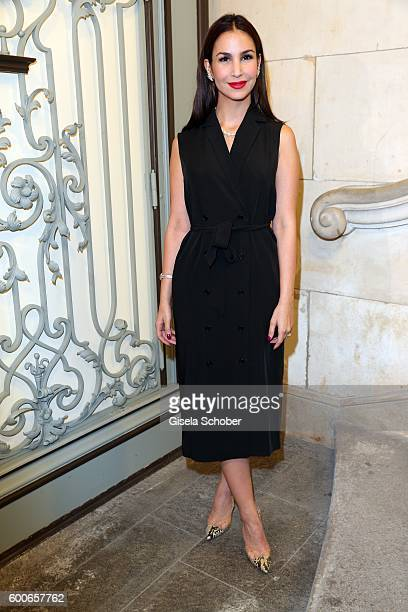 Sila Sahin wearing jewelry by Cadenzza during the 'Casha for Cadenzza' jewelry collection launch event at restaurant 'Pageou' on September 8 2016 in...