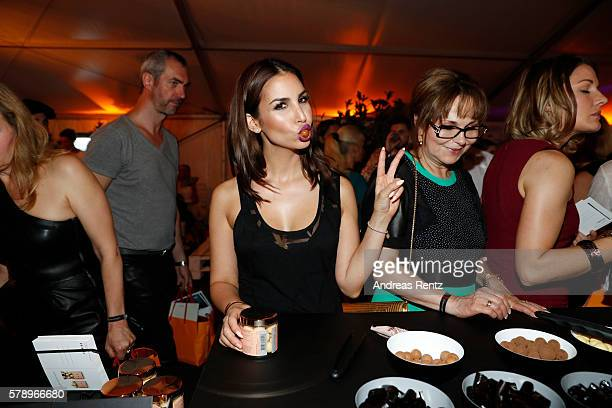 Sila Sahini attends the Breuninger after party during Platform Fashion July 2016 at Areal Boehler on July 22 2016 in Duesseldorf Germany