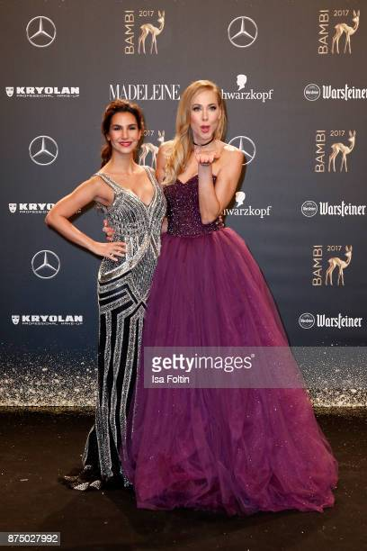 Sila SahinRadlinger and Sylvia Walker arrive at the Bambi Awards 2017 at Stage Theater on November 16 2017 in Berlin Germany