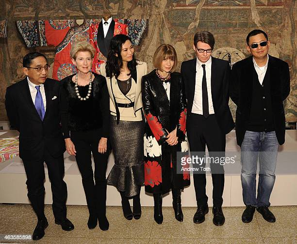 Silas Chou Emily Rafferty Wendi Murdoch Anna Wintour Andrew Bolton and Wong Kar wai attend The Metropolitan Museum Of Art's 'China Through The...