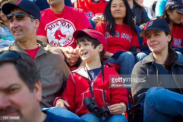 Silas Clark who has peanut allergies gets to enjoy a baseball game at Fenway Park in the new 'Peanut Allergy Friendly' section of the park In...