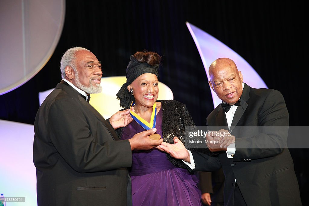 Silas Norman, Jr., <a gi-track='captionPersonalityLinkClicked' href=/galleries/search?phrase=Jessye+Norman&family=editorial&specificpeople=239491 ng-click='$event.stopPropagation()'>Jessye Norman</a> and John Lewis attends the 104th Annual NAACP Convention Spingarn Awards at the Hilton Hotel on July 17, 2013 in Orlando, Florida.