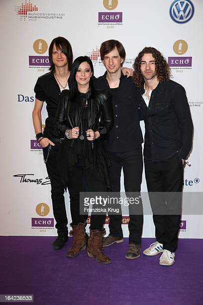 Silbermond attend the Echo Award 2013 at Palais am Funkturm on March 21 2013 in Berlin Germany