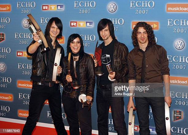 Silbermond during 2007 Echo Awards Press Room at Palais am Funkturm in Berlin Berlin Germany