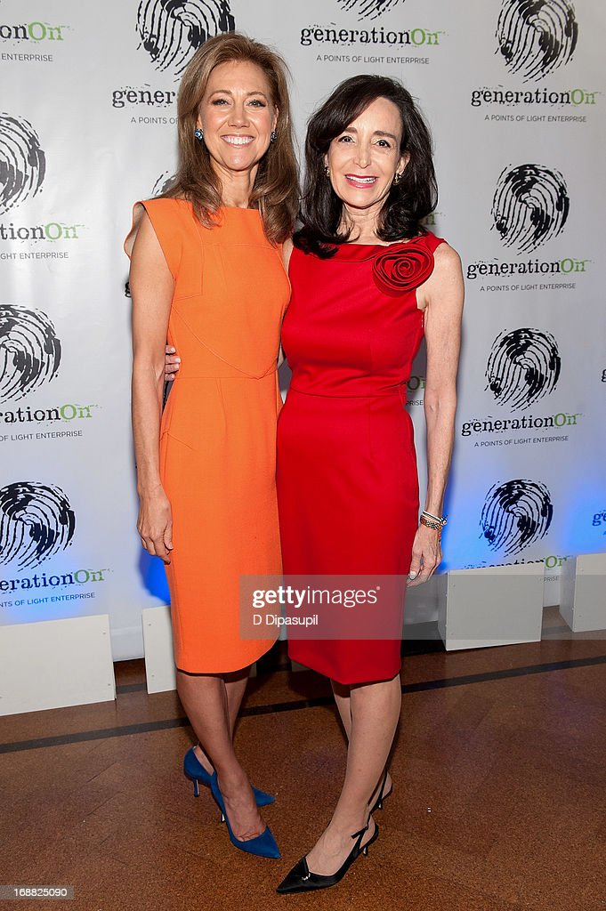 Silda Wall Spitzer and Julie Fisher Cummings attend the 2013 Outstanding Leadership In Youth Service Benefit at 583 Park Avenue on May 15 2013 in New...