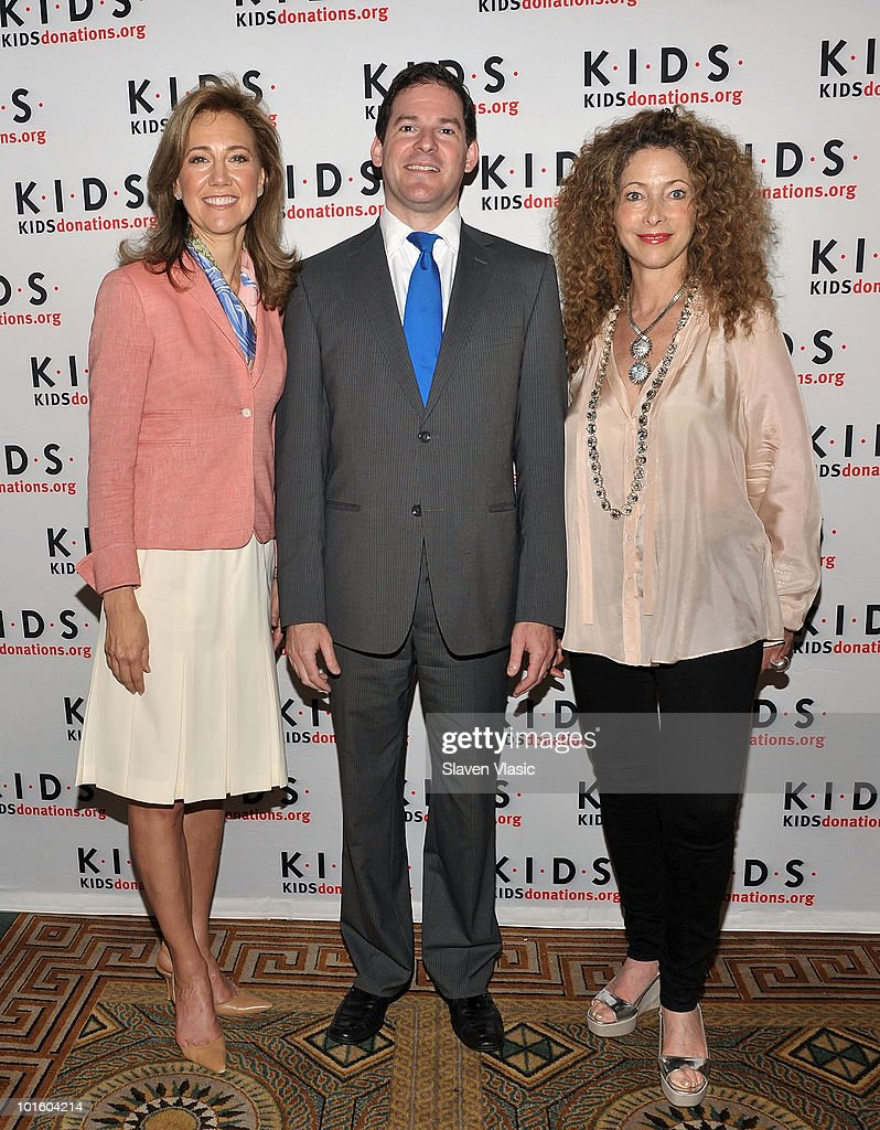 Silda Wall Spitzer KIDS Chairman Peter Rosenthal and Elyse Kroll CEO of ENK International attend the 'Kids in Distressed Situations' luncheon at The...