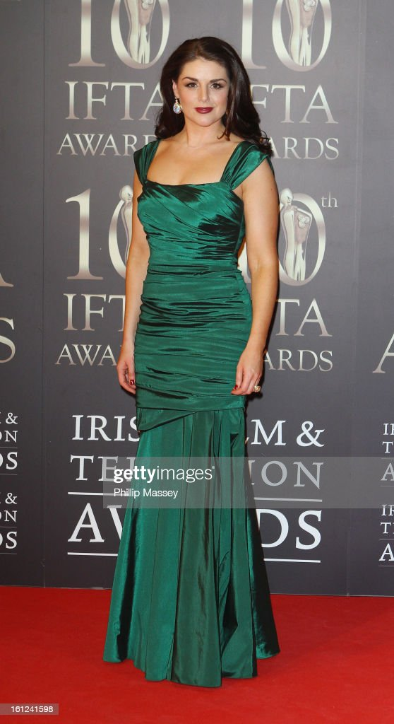 Sile Seoige attends the Irish Film and Television Awards at the Convention Centre Dublin on February 9, 2013 in Dublin, Ireland.