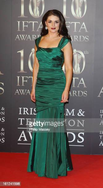 Sile Seoige attends the Irish Film and Television Awards at the Convention Centre Dublin on February 9 2013 in Dublin Ireland