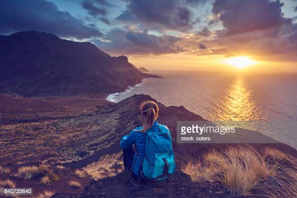 stilte op de top van de bergen