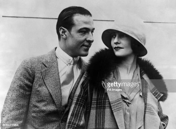 Silent film star and movie icon Rudolph Valentino and his wife the Russian born film and set designer Natacha Rambova