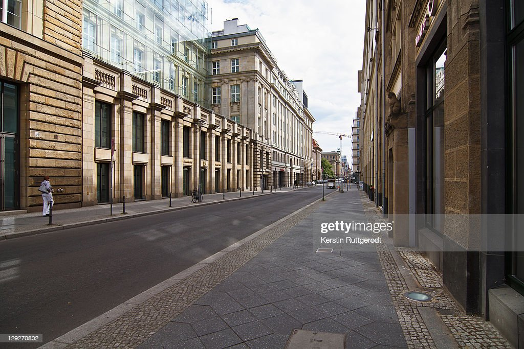 Silent street at Berlin : Stock Photo