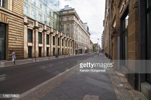 Silent street at Berlin : Stock Photo