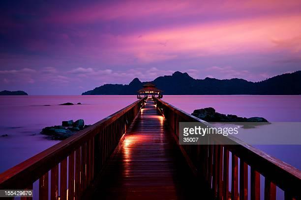 silent sunset in pulau langkawi, malaysia