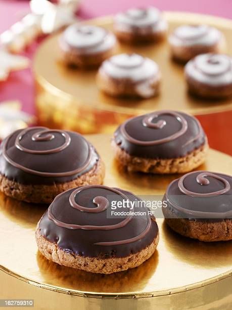 Silesian pepper nut biscuits with chocolate glaze