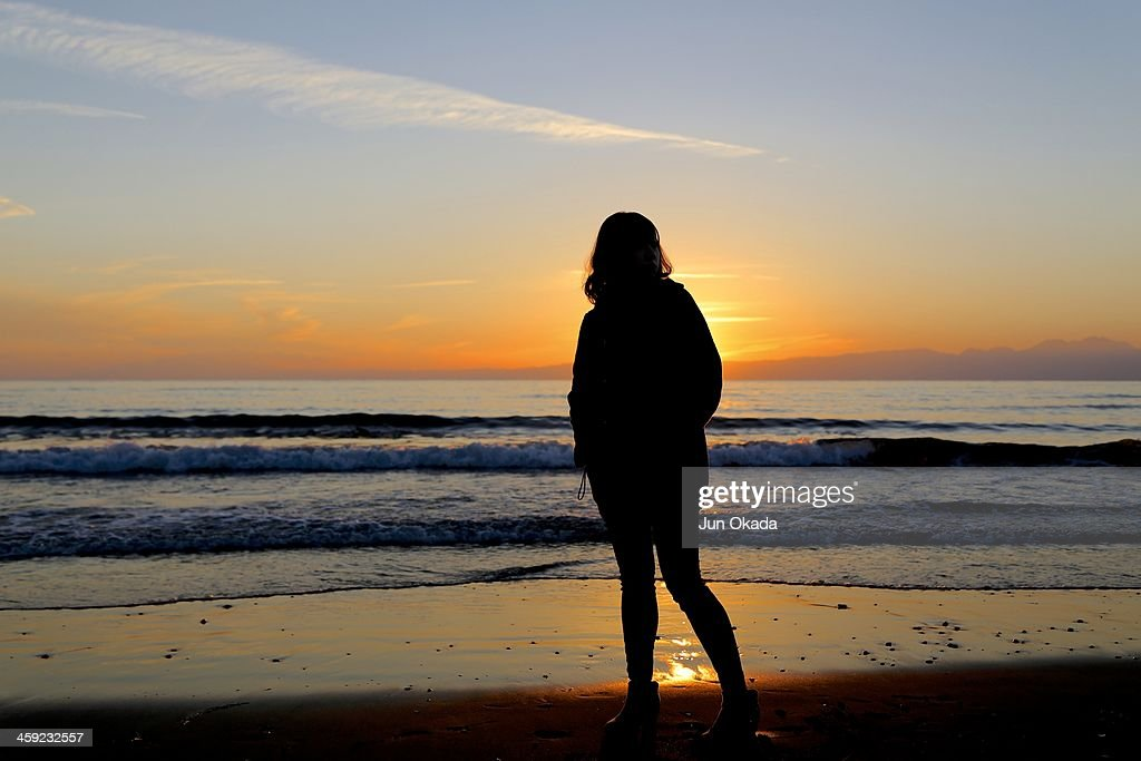 Silhouette and Sunset : Stock Photo