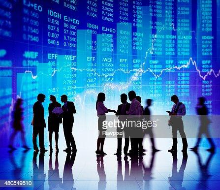 Silueta negocios debate el concepto de mercado de Stock : Foto de stock