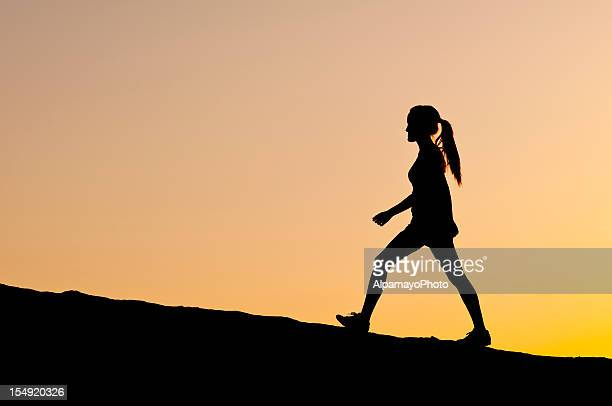 Silhouette: Evening walk - V