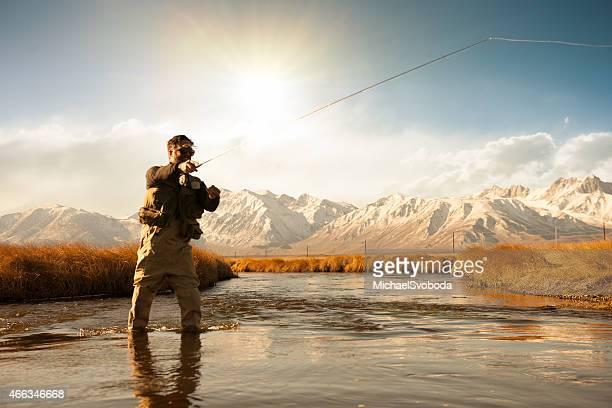 Silhouette de pêcheur