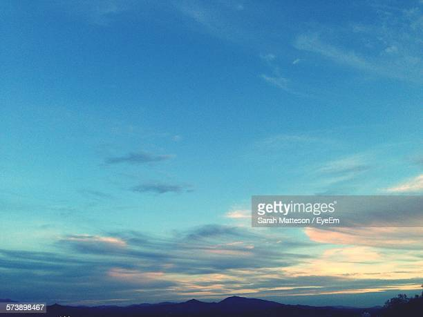 Silhouette Mountains Against Sky