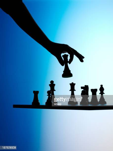Silhouette of a Chess Game