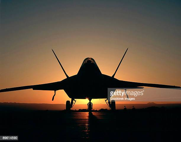 Silhouette of a F-22 Raptor