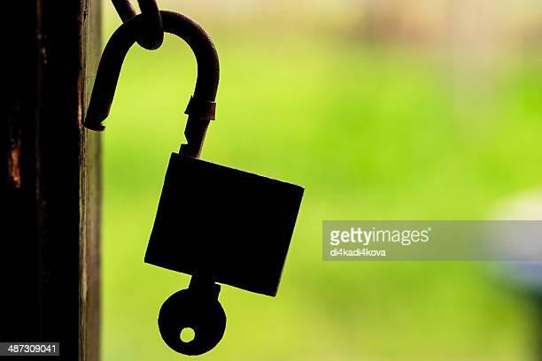 silhouette of a padlock