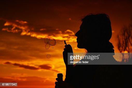 silhouette of a woman in profile face