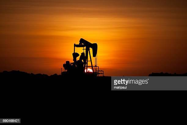 Silhouette of an oil well, Lobitos, Talara, Peru