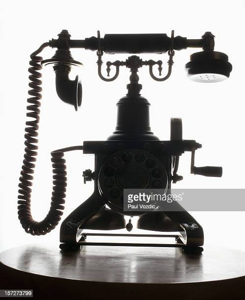 Silhouette of Antique Phone