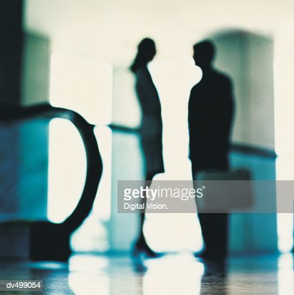 Silhouette of Business People : Stock Photo