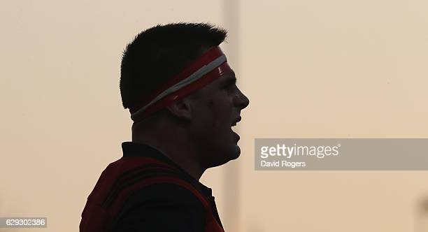 Silhouette of CJ Stander of Munster looks on during the European Champions Cup match between Munster and Leicester Tigers at Thomond Park on December...