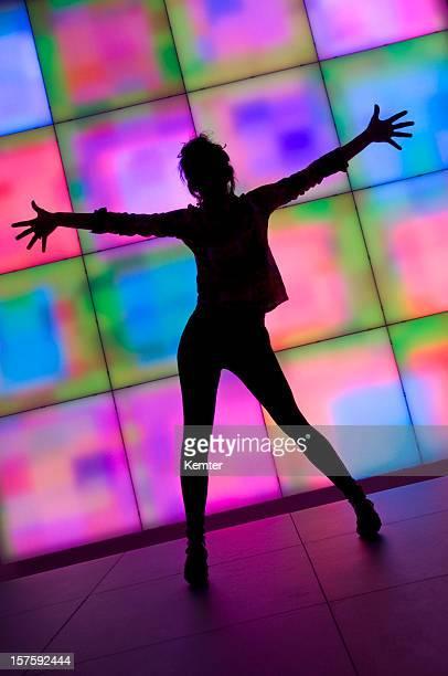 Frau silhouette Tanzen