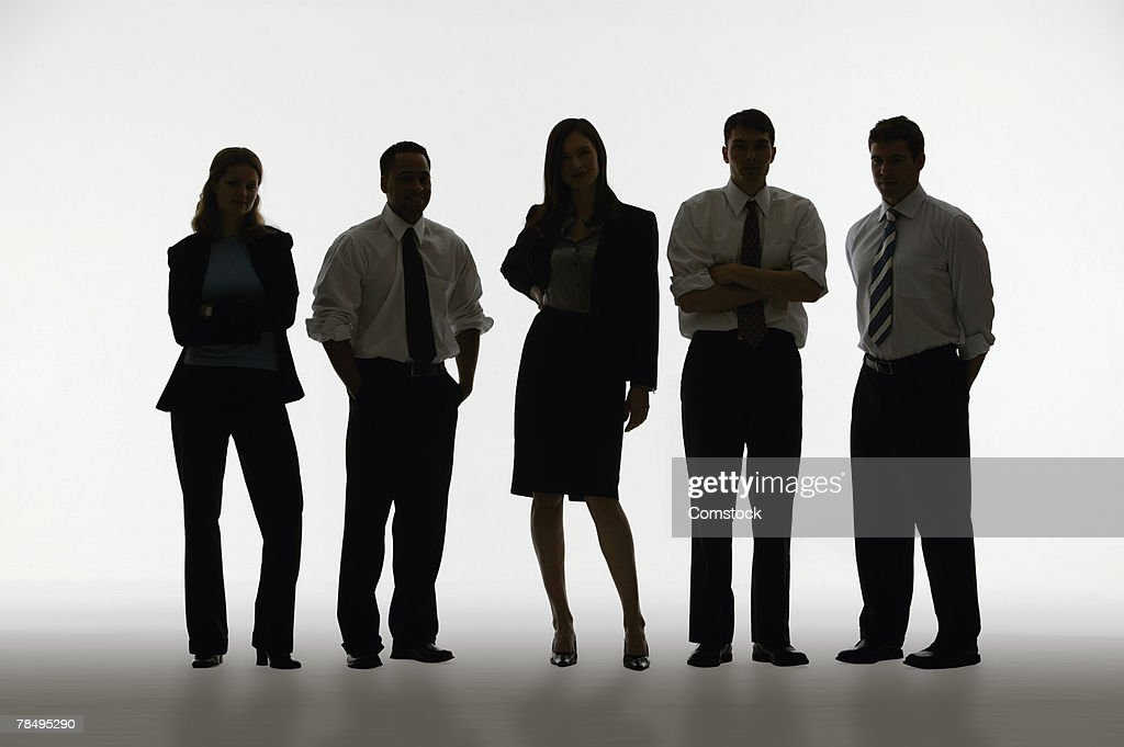 Silhouette Of Group Of People Stock Photo | Getty Images