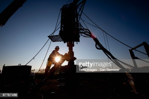 Silhouette of industrial worker