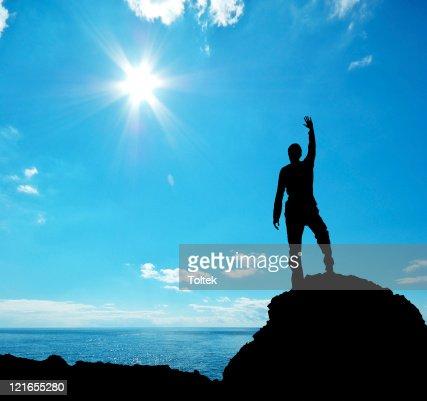 Silhouette of man : Stock Photo