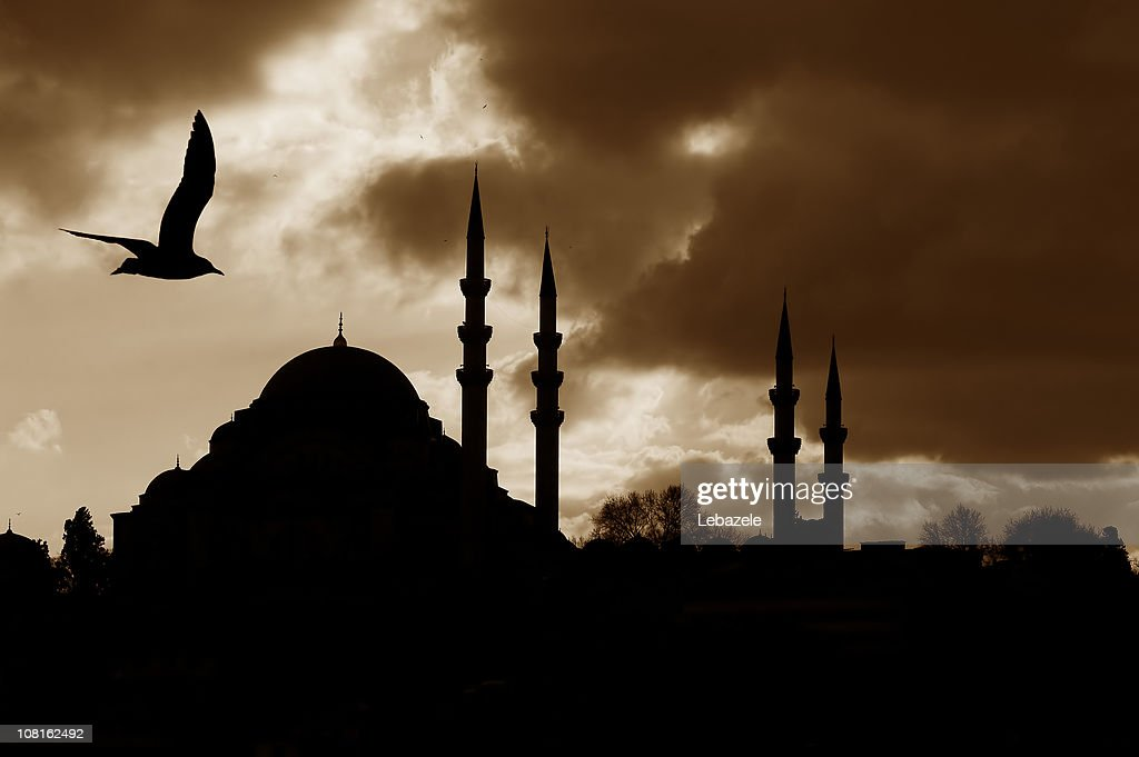Silhouette of Mosque : Stock Photo