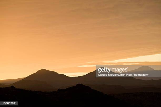 Silhouette of mountains and sky