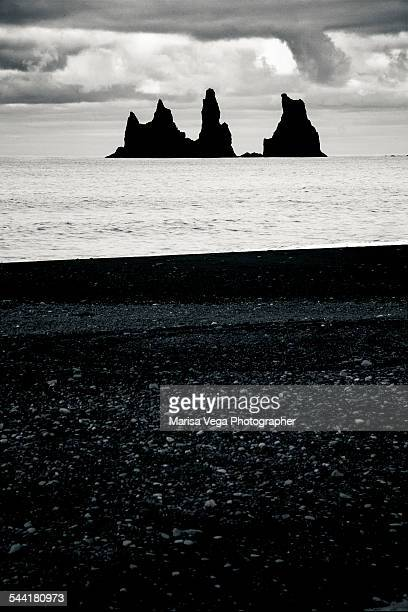 Silhouette of rock formations